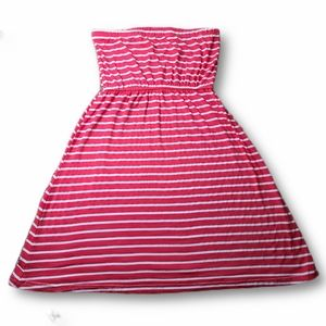 Shoe Shack Pink and White Striped Tube Dress